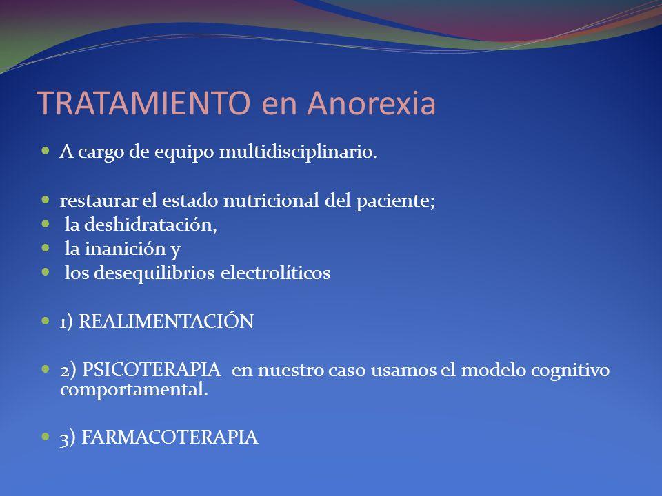 TRATAMIENTO en Anorexia