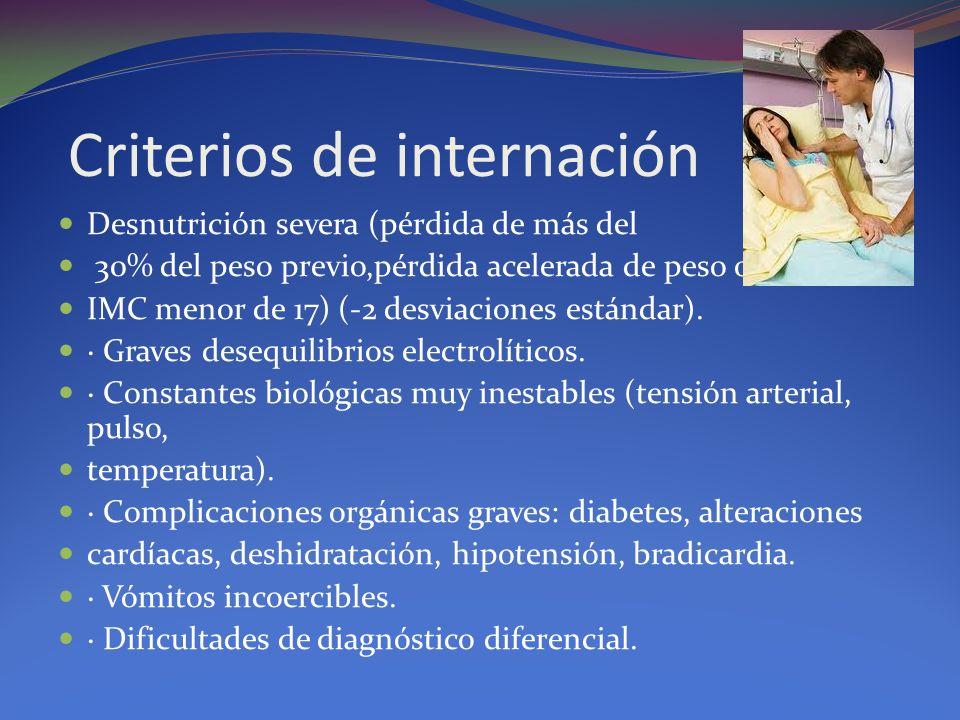 Criterios de internación
