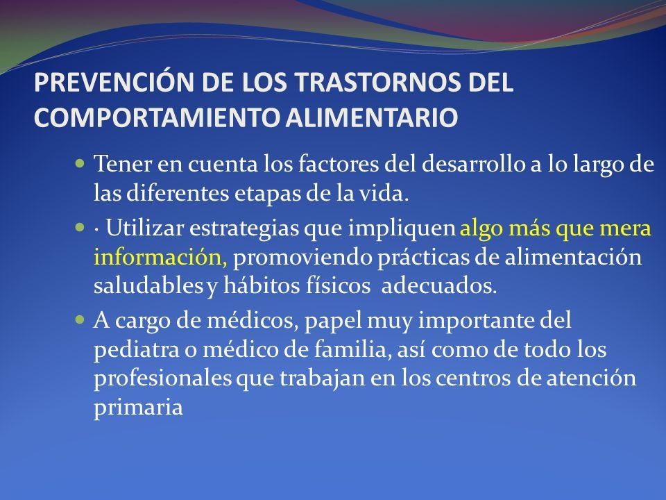 PREVENCIÓN DE LOS TRASTORNOS DEL COMPORTAMIENTO ALIMENTARIO