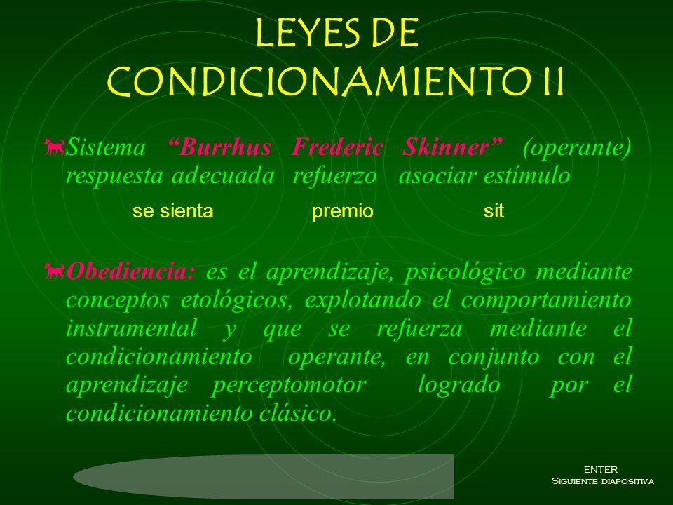 LEYES DE CONDICIONAMIENTO II