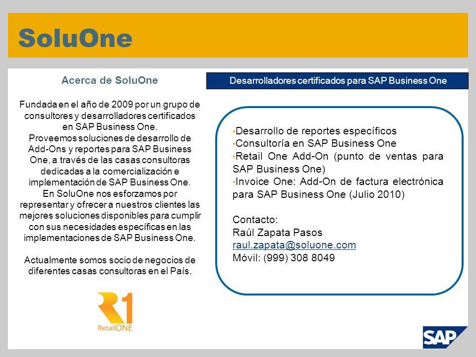 Desarrolladores certificados para SAP Business One