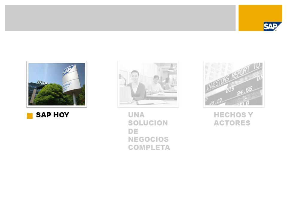 SAP HOY UNA SOLUCION DE NEGOCIOS COMPLETA HECHOS Y ACTORES