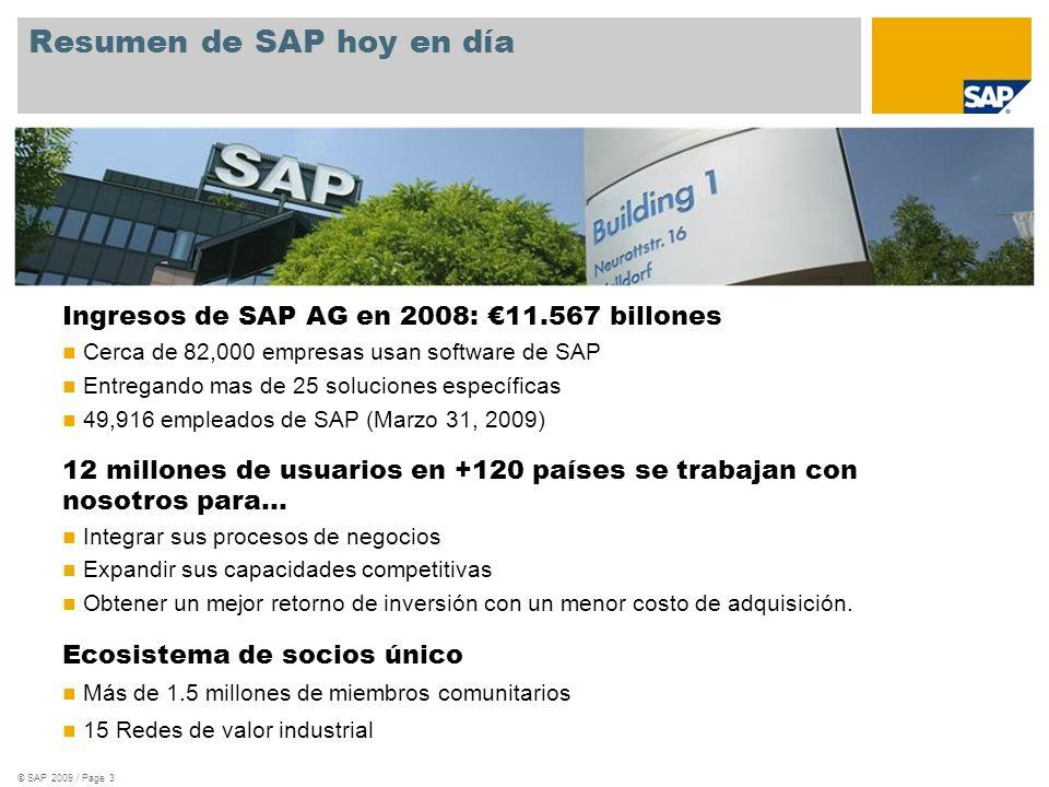 Resumen de SAP hoy en día