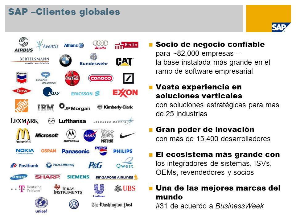 SAP –Clientes globales