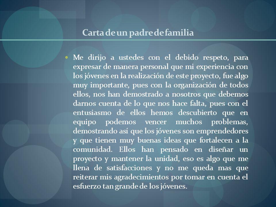 Carta de un padre de familia