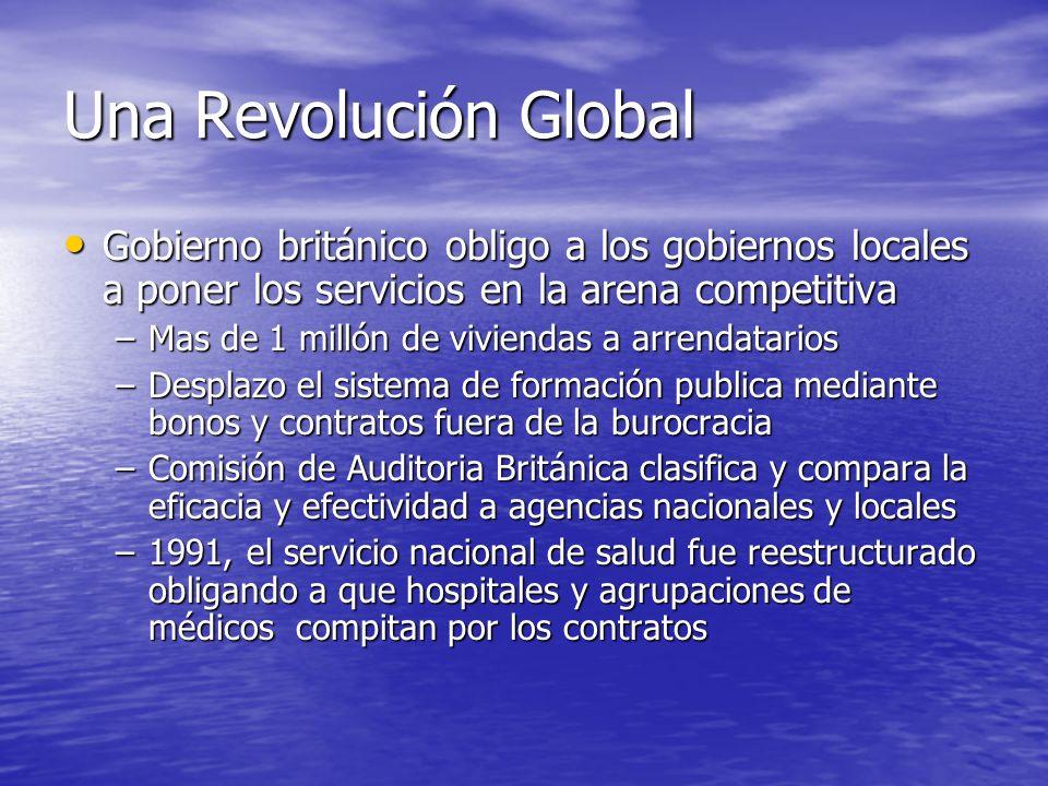 Una Revolución Global Gobierno británico obligo a los gobiernos locales a poner los servicios en la arena competitiva.
