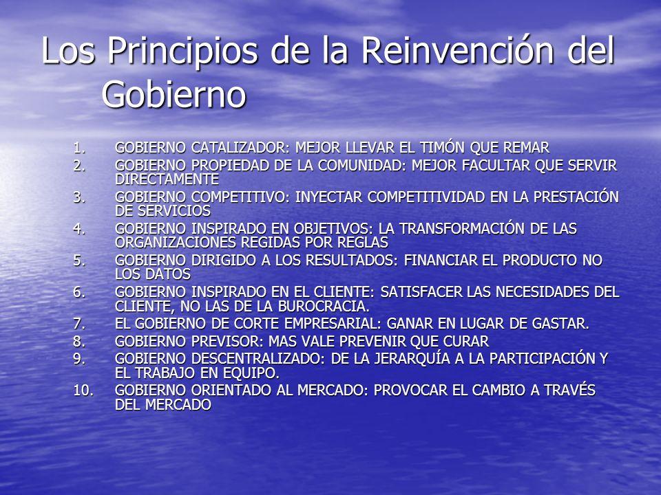 Los Principios de la Reinvención del Gobierno