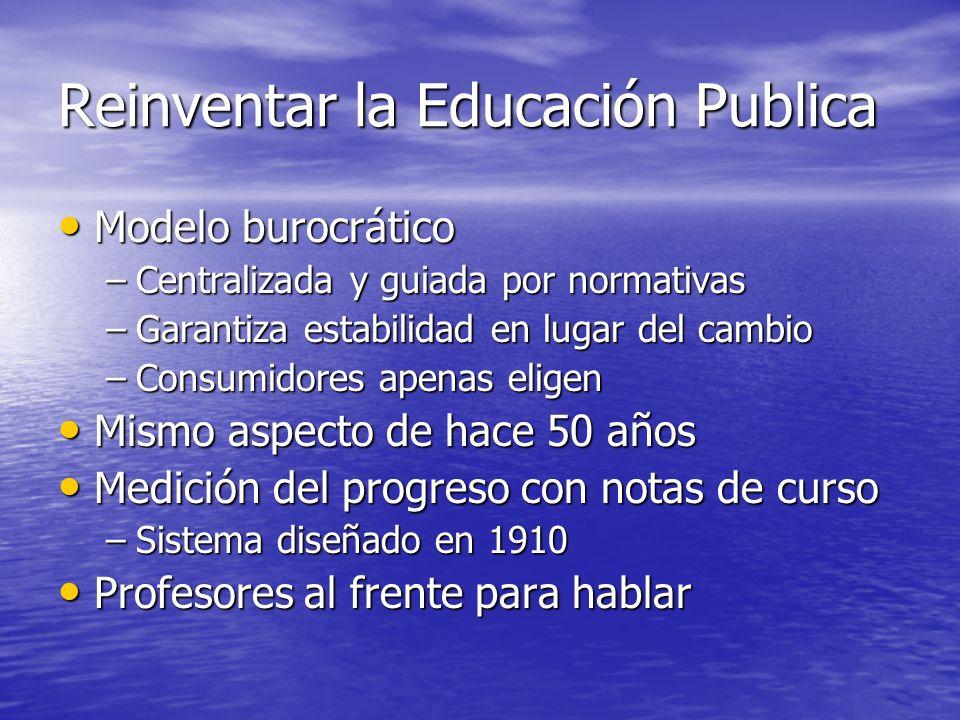 Reinventar la Educación Publica