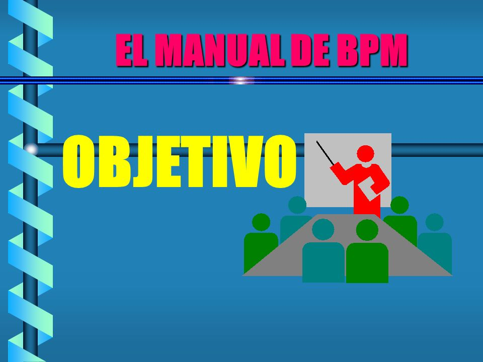 EL MANUAL DE BPM OBJETIVO