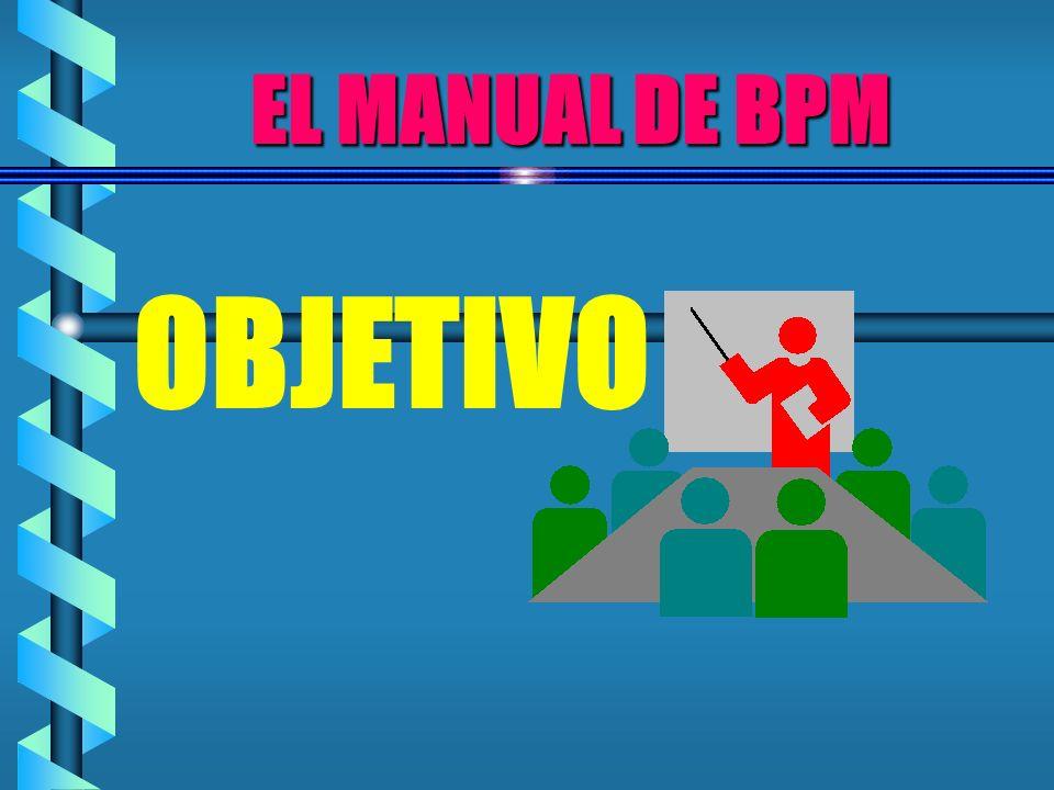 EL MANUAL DE BPM OBJETIVO