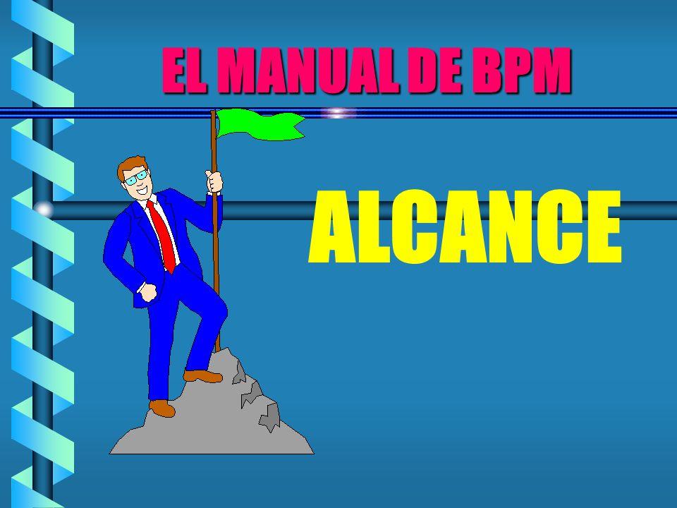 EL MANUAL DE BPM ALCANCE