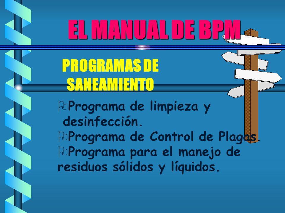 PROGRAMAS DE SANEAMIENTO