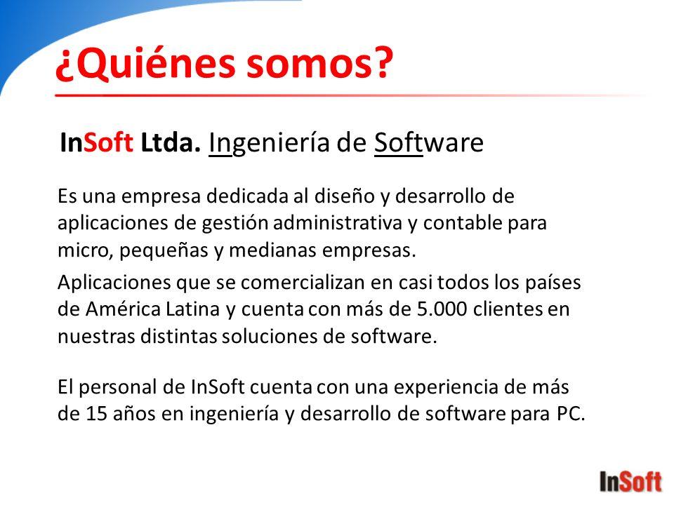 ¿Quiénes somos InSoft Ltda. Ingeniería de Software