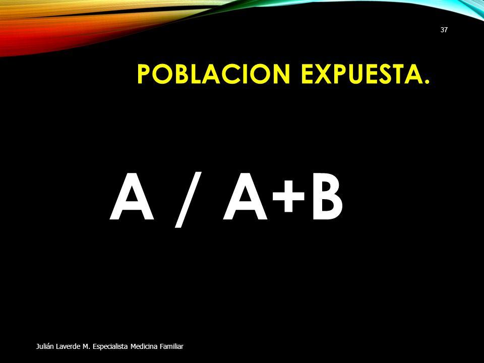 A / A+B POBLACION EXPUESTA.
