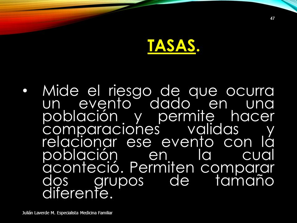 TASAS.