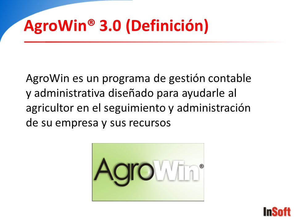 AgroWin® 3.0 (Definición)
