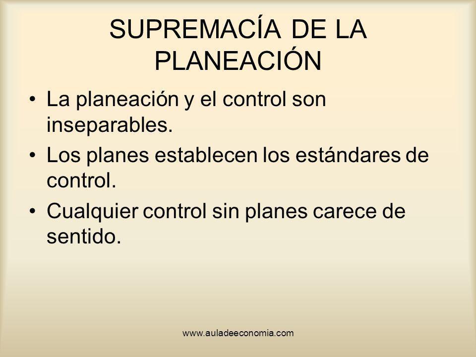 SUPREMACÍA DE LA PLANEACIÓN