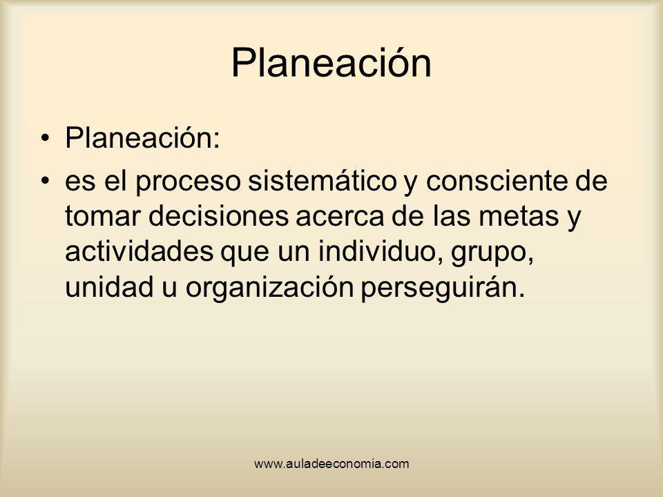 Planeación Planeación:
