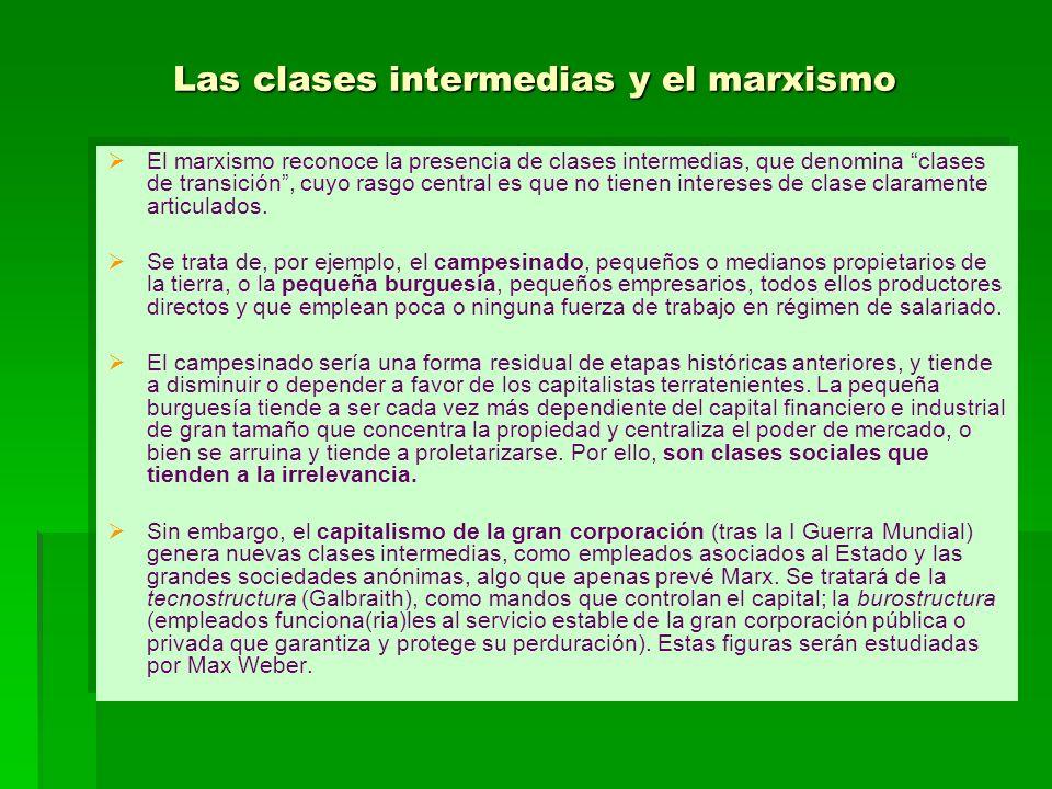 Las clases intermedias y el marxismo