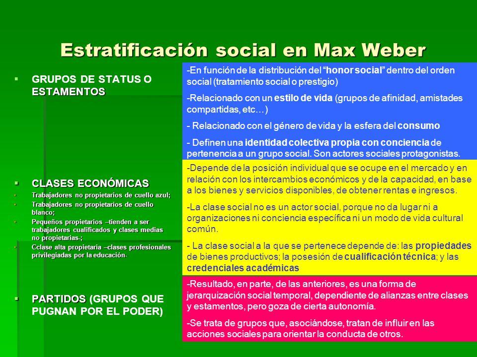 Estratificación social en Max Weber