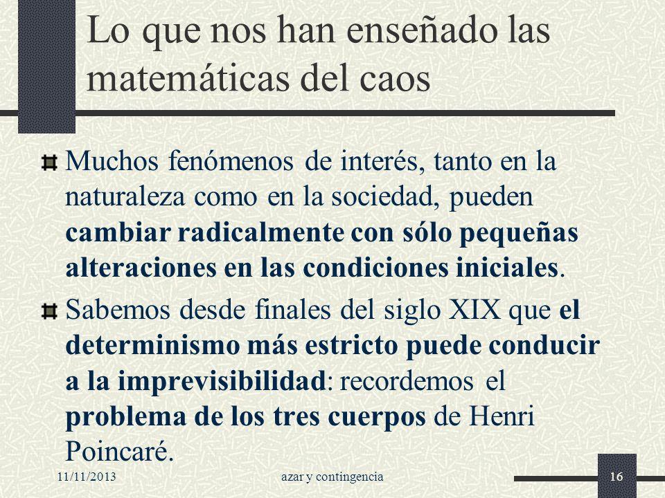 Lo que nos han enseñado las matemáticas del caos