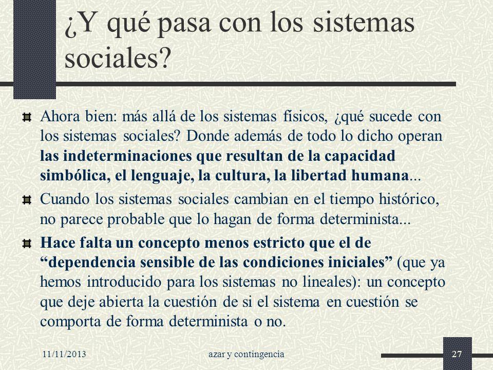 ¿Y qué pasa con los sistemas sociales
