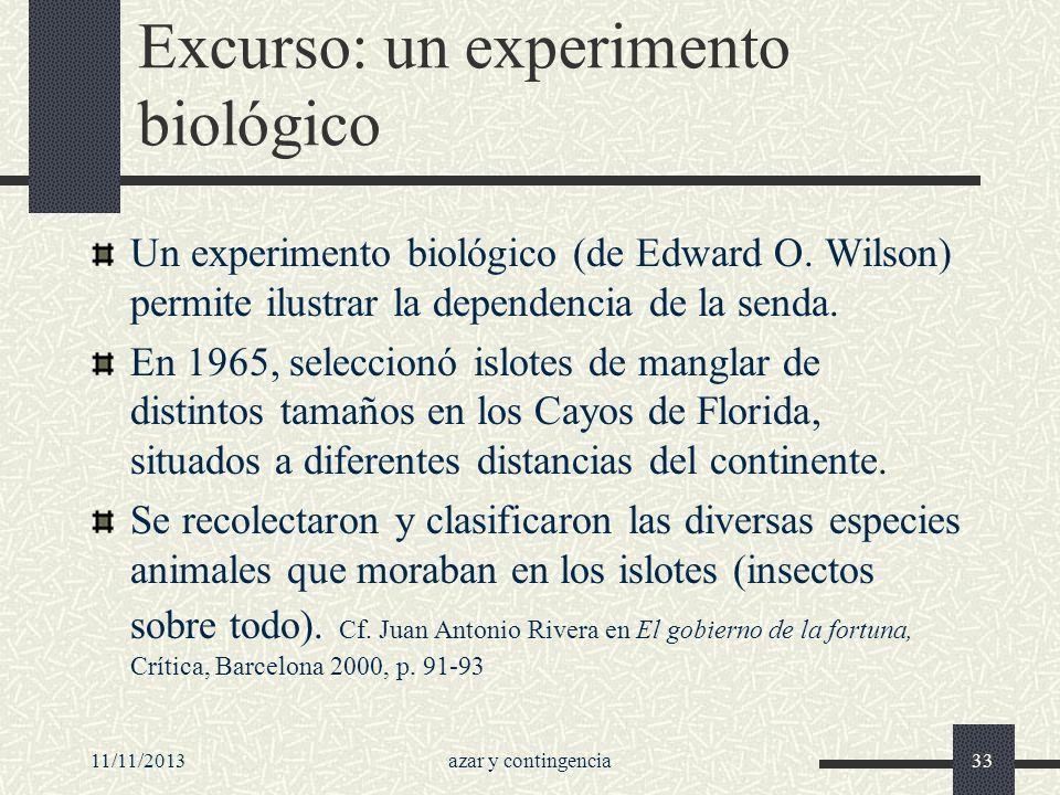 Excurso: un experimento biológico