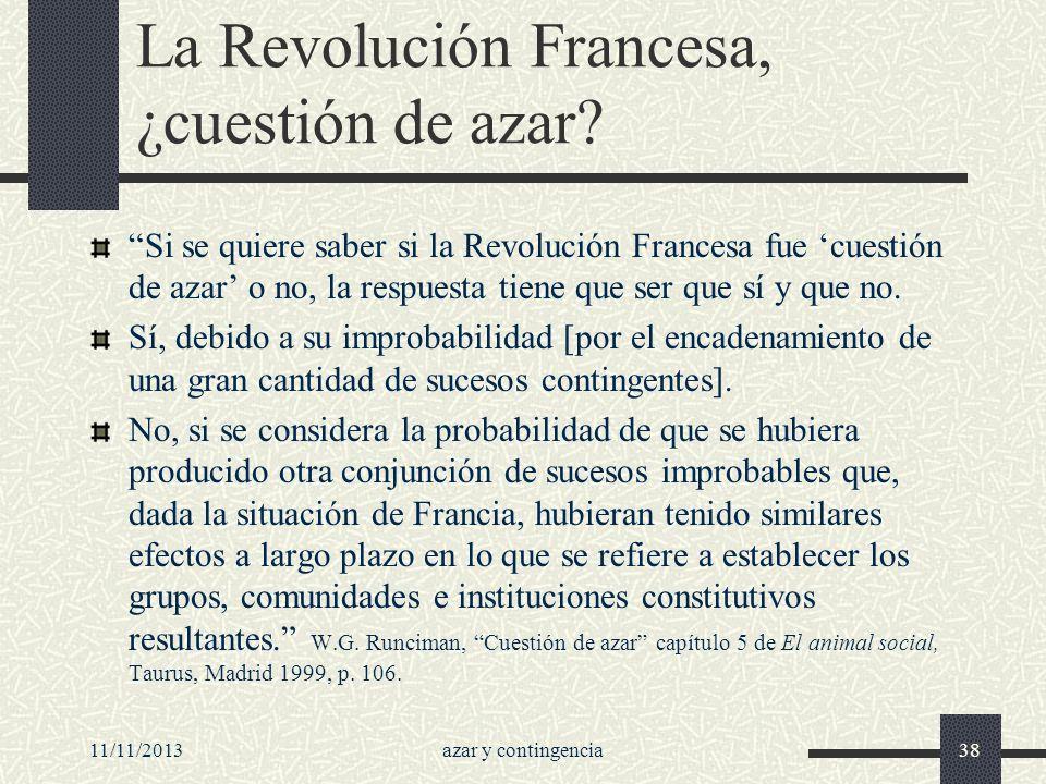 La Revolución Francesa, ¿cuestión de azar