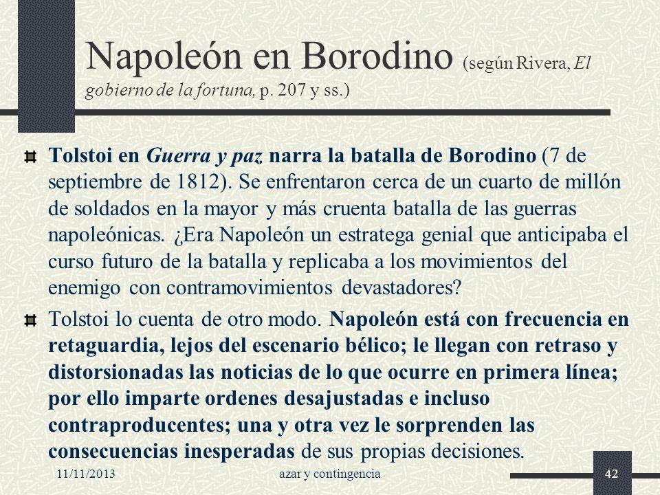 Napoleón en Borodino (según Rivera, El gobierno de la fortuna, p