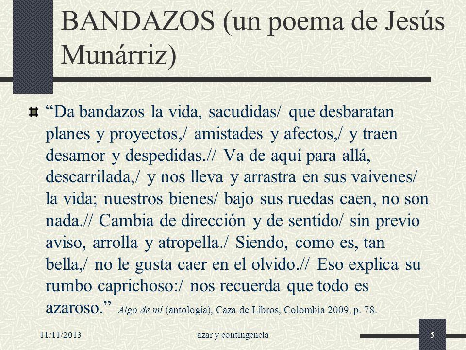 BANDAZOS (un poema de Jesús Munárriz)