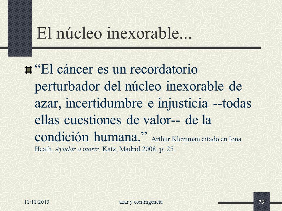 El núcleo inexorable...