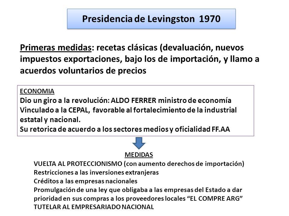 Presidencia de Levingston 1970