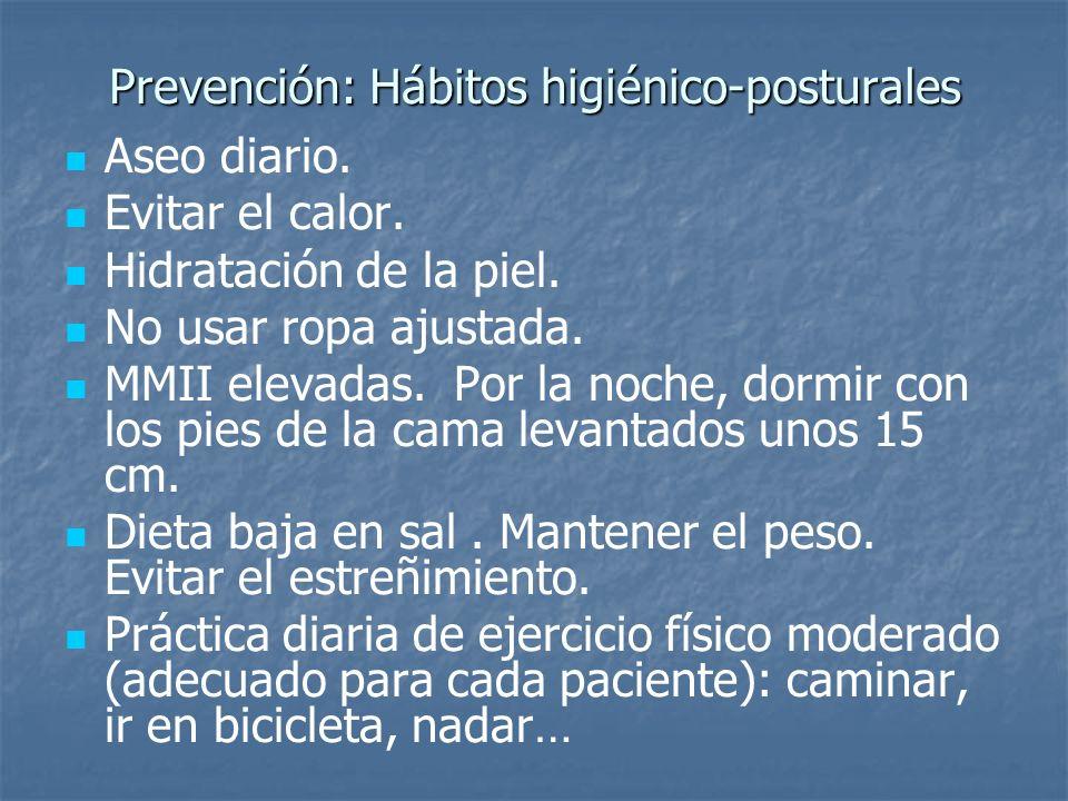 Prevención: Hábitos higiénico-posturales