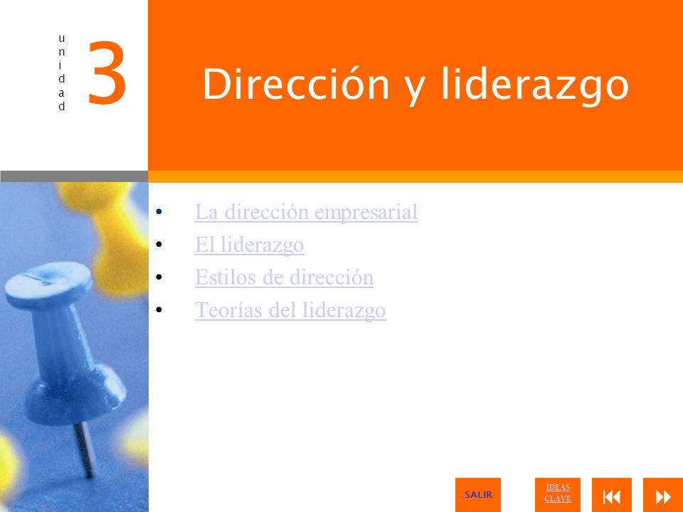 3 Dirección y liderazgo La dirección empresarial El liderazgo