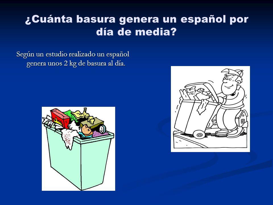 ¿Cuánta basura genera un español por día de media