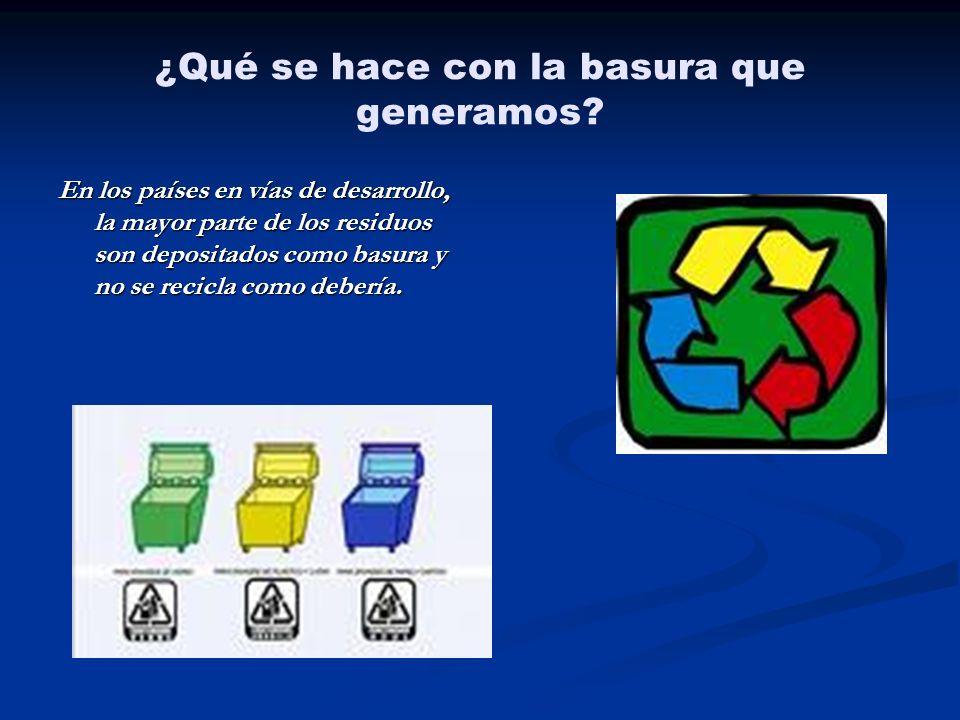 ¿Qué se hace con la basura que generamos