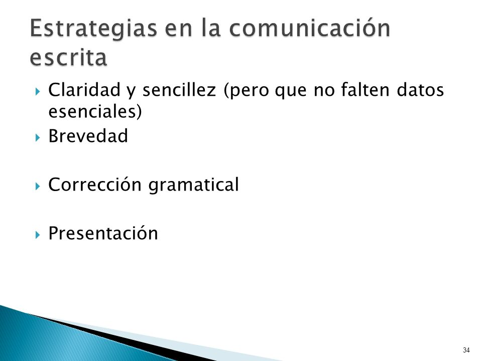 Estrategias en la comunicación escrita