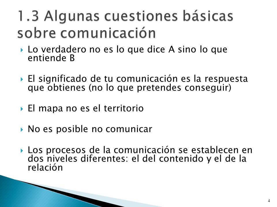 1.3 Algunas cuestiones básicas sobre comunicación
