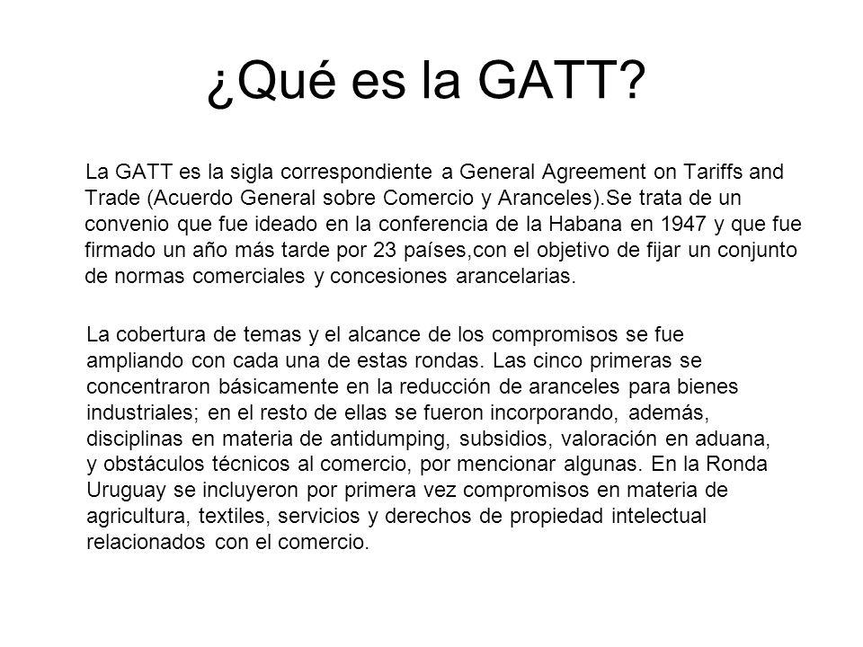 ¿Qué es la GATT