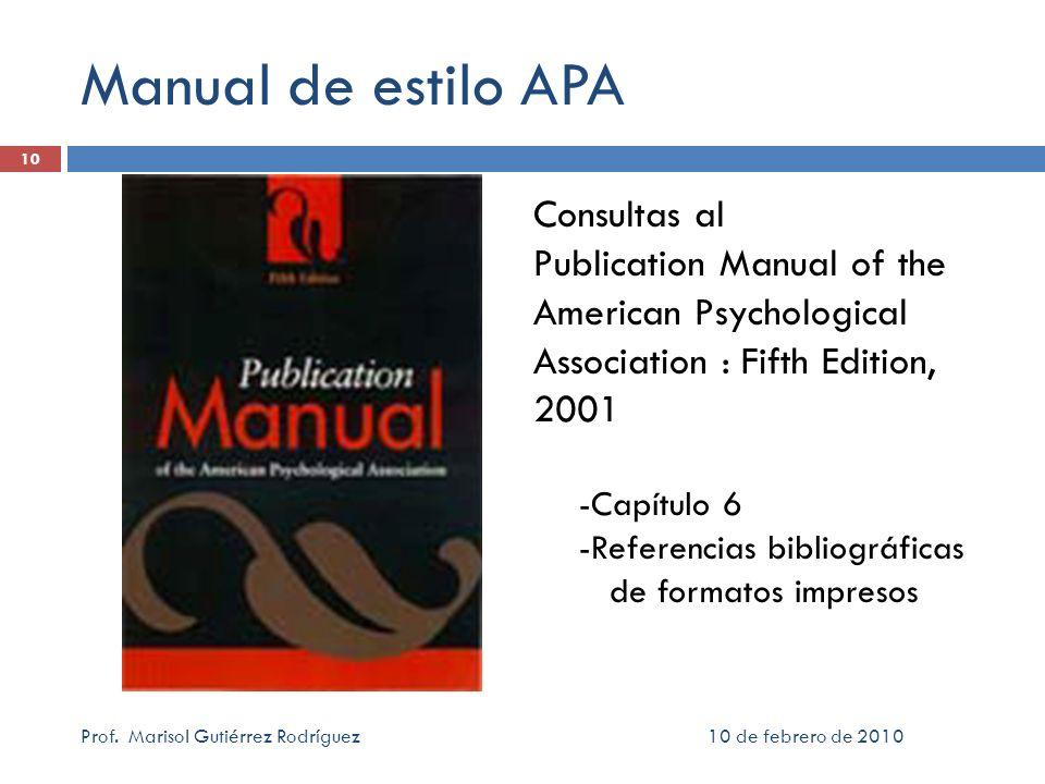 Manual de estilo APA Consultas al