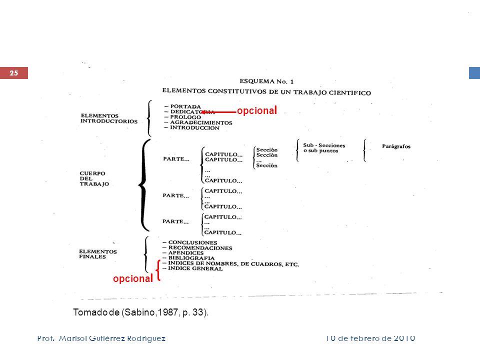 opcionalopcional.Tomado de (Sabino,1987, p. 33). Prof.