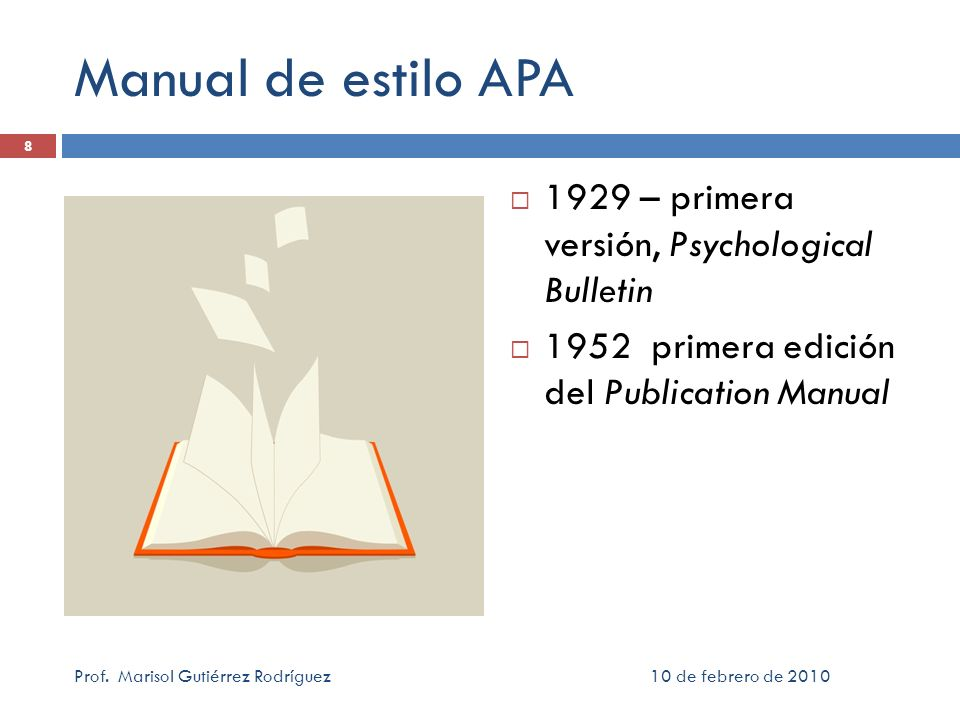 Manual de estilo APA 1929 – primera versión, Psychological Bulletin