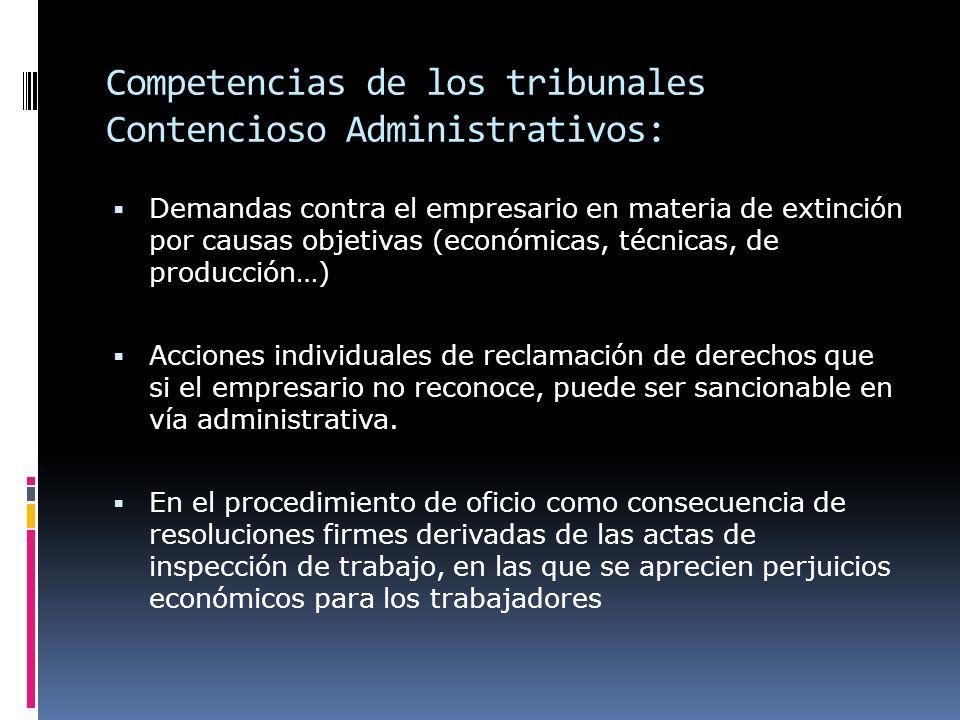Competencias de los tribunales Contencioso Administrativos: