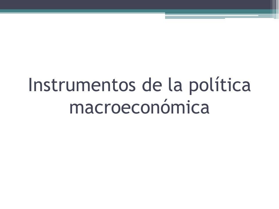 Instrumentos de la política macroeconómica