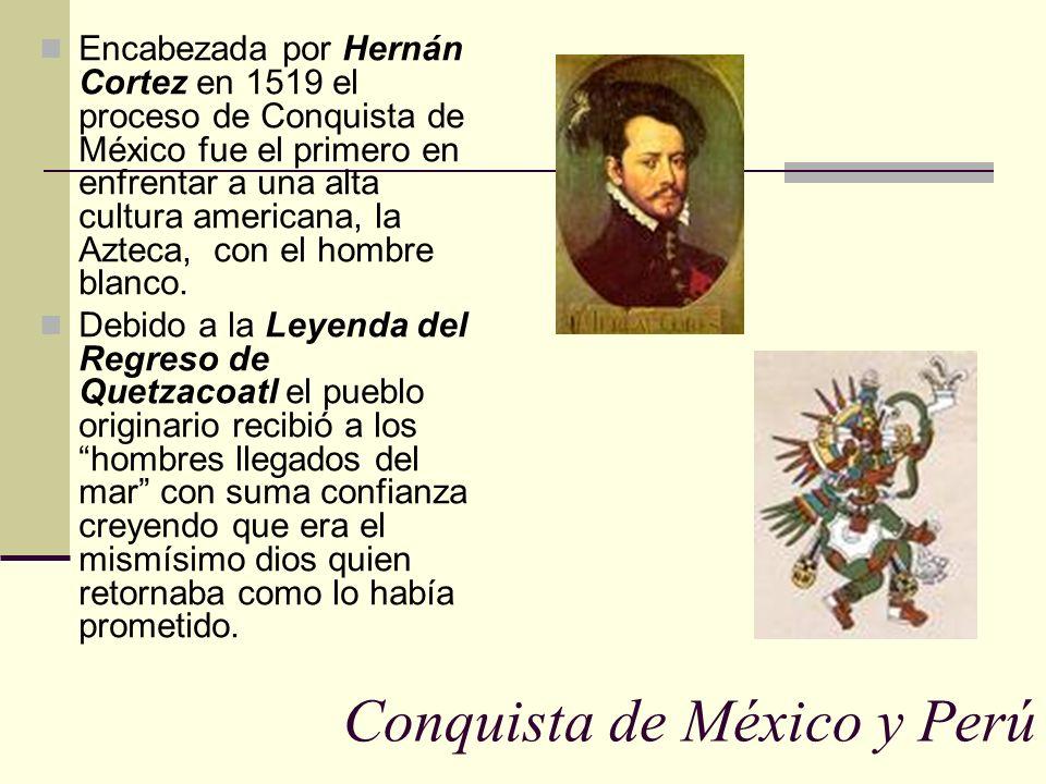 Conquista de México y Perú