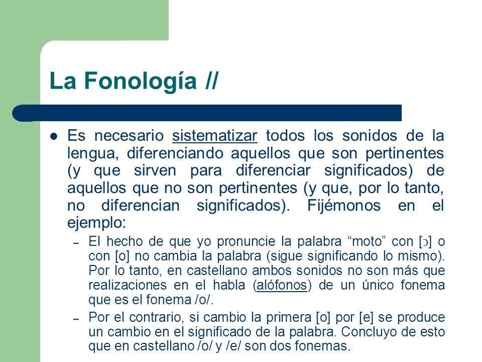 La Fonología //