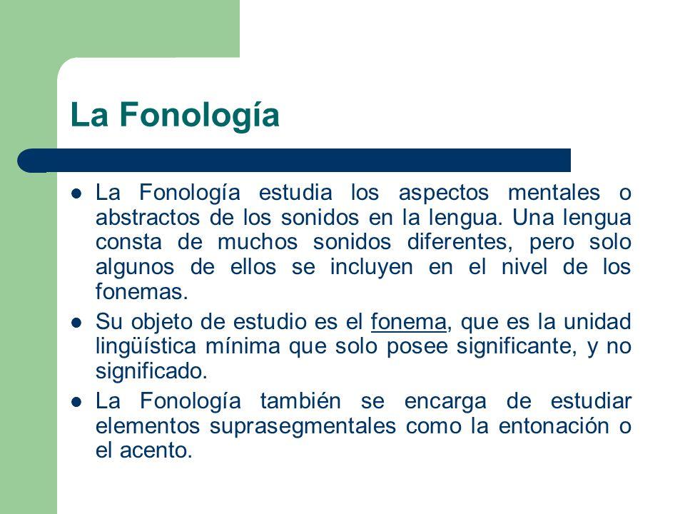 La Fonología