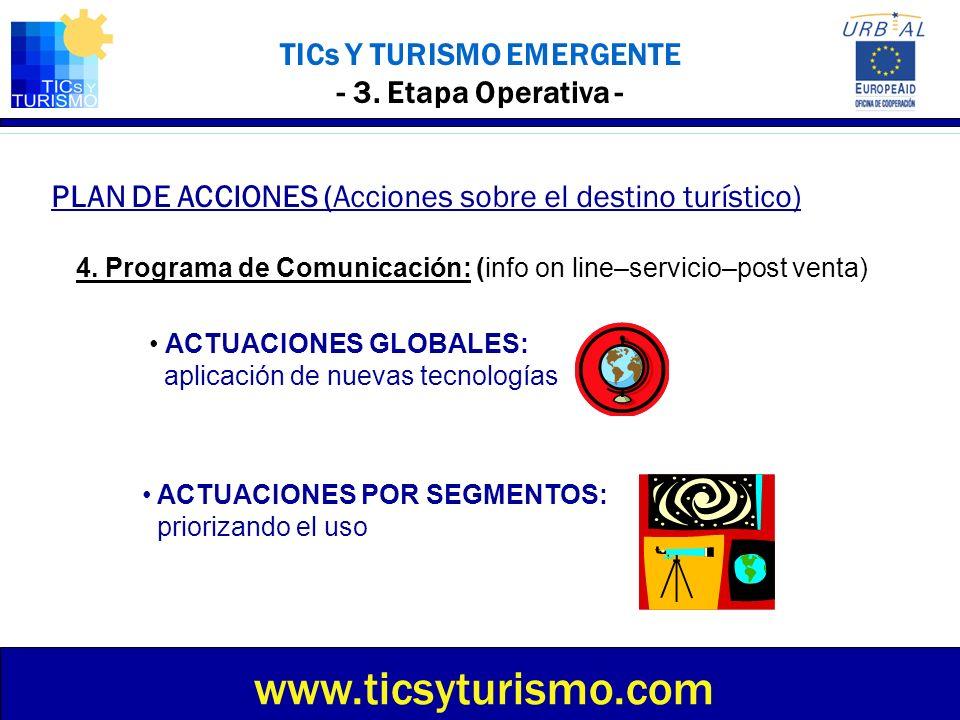 TICs Y TURISMO EMERGENTE - 3. Etapa Operativa -