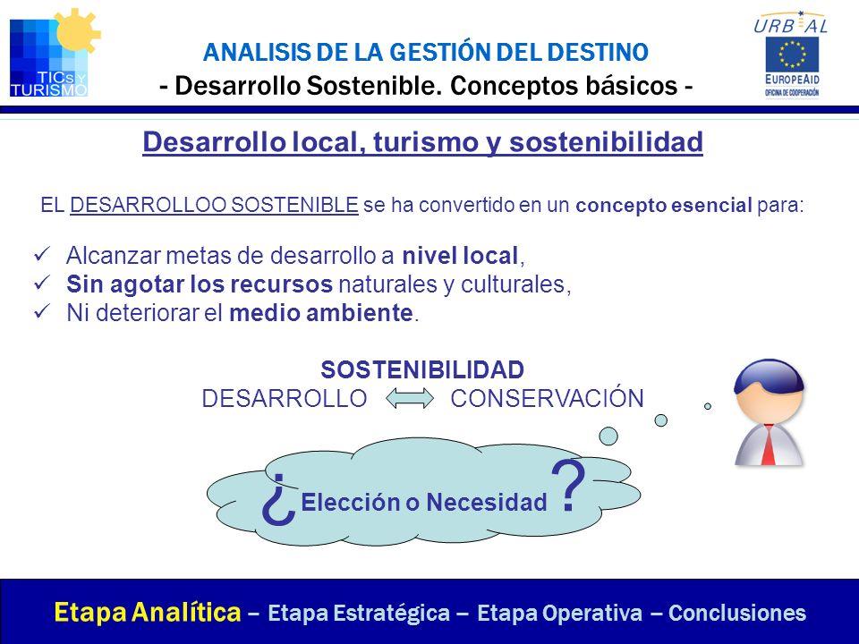 Desarrollo local, turismo y sostenibilidad