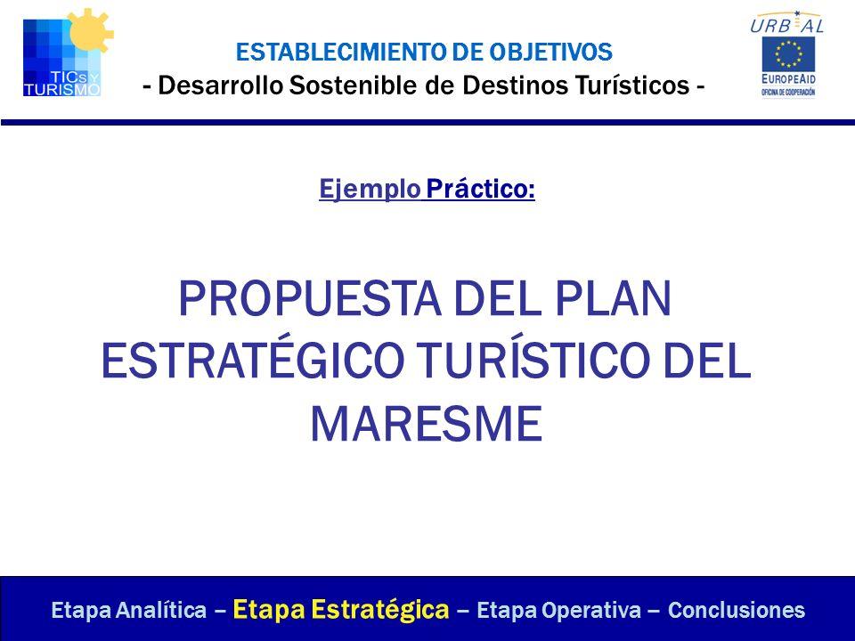 PROPUESTA DEL PLAN ESTRATÉGICO TURÍSTICO DEL MARESME